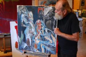 aktgemaelde-oelfarbe-oelkreide-leinwand-titel-peep-show-blaue-konturen-80x70cm-groessenansicht-291
