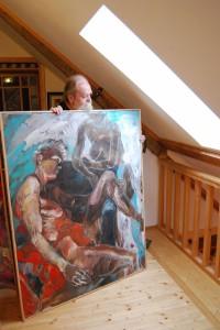 aktgemaelde-zwei-frauen-oel-auf-leinwand-tuerkis-und-rot-namens-berdewa-150x120cm-groessenansicht-334