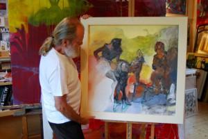 aktmalerei-aktgemaelde-frau-mit-schwarzen-strapsen-und-high-heels-vorgebeugt-titel-lust-quadratisch-80x80cm-groessenansicht-26089