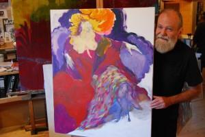 aktmalerei-frau-zeigt-brueste-oelfarbe-leinwand-blonde-haare-rotes-kleid-100x80cm-groessenansicht-547