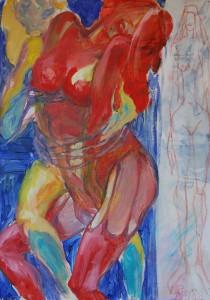 aktmalerei-zwei-frauen-eng-umschlungen-oelgemaelde-70x50cm-364