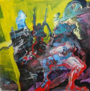 farbintensives-gemaelde-quadratisch-interessante-perspektive-gelbliche-farben-dicke-frau-spreizt-beine-110x110cm-6653190