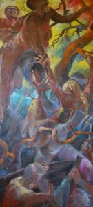 gemaelde-oelfarbe-panik-im-finnischen-wald-stimmungsbild-190x90cm-3281