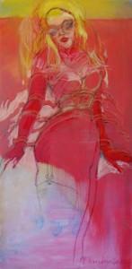 gemaelde-olgemaelde-blonde-frau-grosse-augen-hochformat-roetliche-farben-titel-fetisch-100x50cm-66266