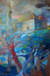 landschaftsgemaelde-slowenien-grad-blaue-oelfarben-120x80cm-02305