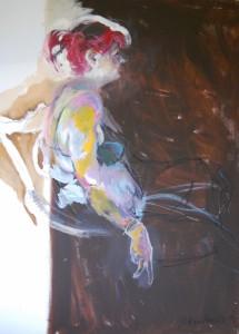 oelgemaelde-frau-mit-roten-haaren-schwarzer-bh-160x115cm-663331