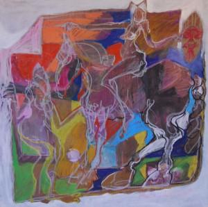 oelgemaelde-nackte-frau-reitet-auf-pferd-70x70cm-511