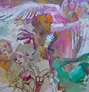 oelgemaelde-quadratisch-helle-farben-motive-frauen-und-ein-adler-110x110cm-348