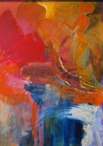 oelgemaelde-roetliche-farben-frauen-stamm-70x50cm-526